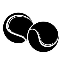 tennis ball icon simple black style vector image vector image