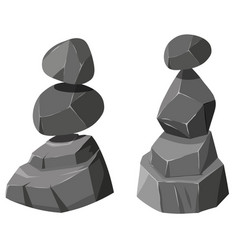 Two stacks of rocks vector