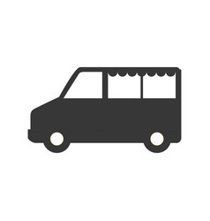 van vehicle transport vector image
