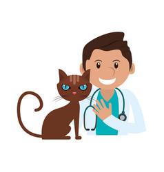 Veterinarian doctor man ico vector