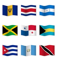 Waving flags of different countries 9 vector