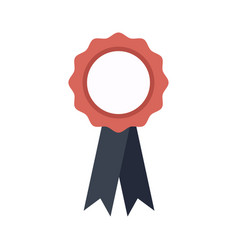 Winner award badge ribbon school success vector