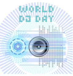 World dj day abstract dj radio music vector