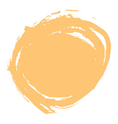 yellow brush stroke circle shape vector image vector image