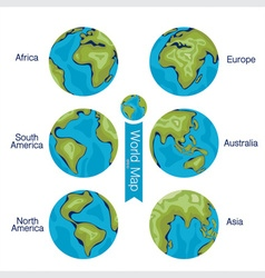 Set of modern globe vector