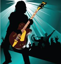 Rock and roll concert vector