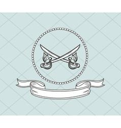 crossed swords emblem image vector image