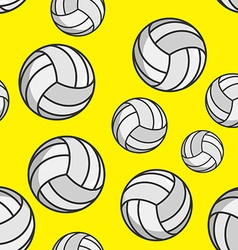 Volleyball seamless pattern sports accessory vector
