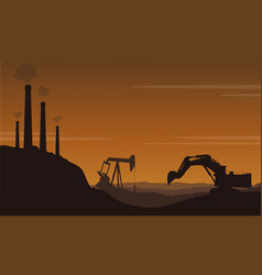 Style bad environment with pollution industry vector