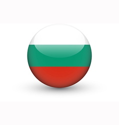 Round icon with national flag of bulgaria vector