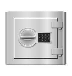 steel safe on white for design vector image