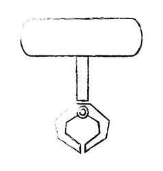 robotic claw industrial machine equipment icon vector image
