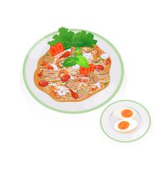 Tuna spicy vector