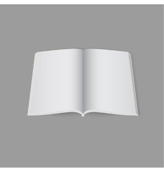 Blank empty open magazine template vector
