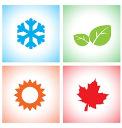 Season icon set vector