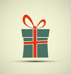 Icon of gift box vector image