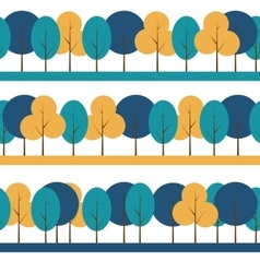 Different Trees Natural Seamless Pattern vector image
