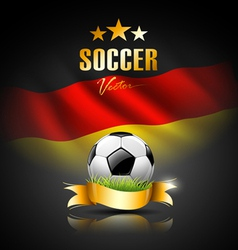 Football and flag of germany vector