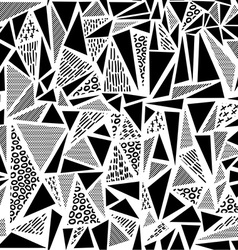 Vintage 80s seamless pattern in black and white vector
