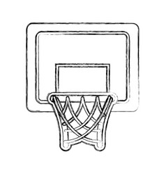 basket basketball isolated icon vector image vector image