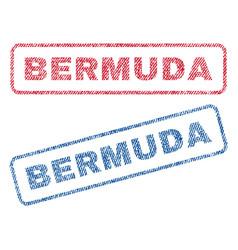 Bermuda textile stamps vector