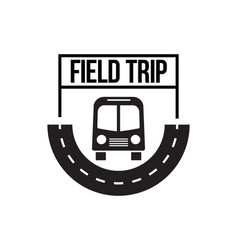 bus trip and travel tour badge logo vector image vector image