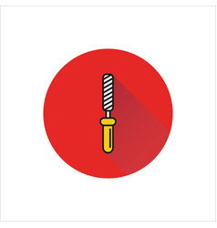 chisel rasp file grater instrument icon vector image vector image