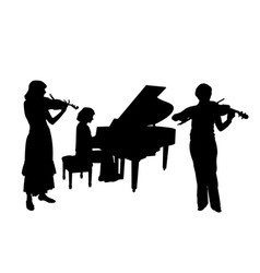 Concerto for two violins and piano vector