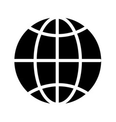 Contour global symbol to earth planet vector