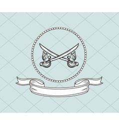 Crossed swords emblem image vector
