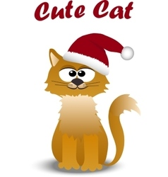 Cute cat in hat vector