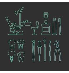 DentistryIcons vector image vector image