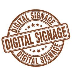 Digital signage brown grunge stamp vector