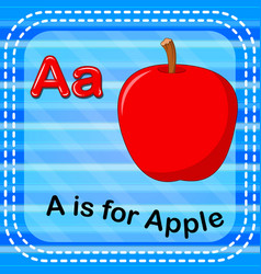 Flashcard letter a is for apple vector