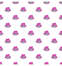 Gentleman hat pattern cartoon style vector image vector image