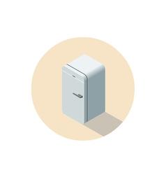 isometric of fridge 3d flat refrigerator vector image vector image