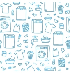 Laundry service seamless pattern vector image