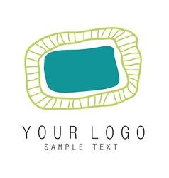Logo oval vector