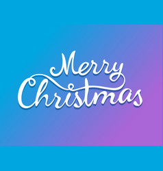 Merry christmas calligraphic logo template for vector