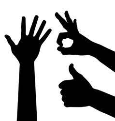 Ok hand sign vector