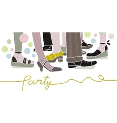 Party Scene vector image