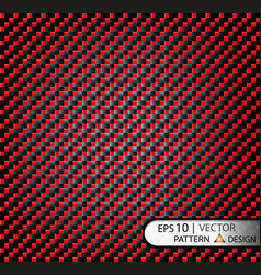 Pattern seamless carbon fiber red under vector