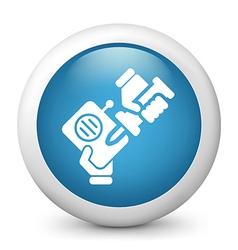 Radio Repair glossy icon vector image vector image