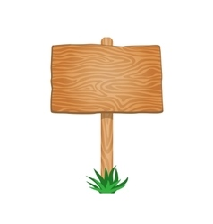 Single Empty Wood Signboard vector image vector image