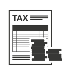 Tax receip paper document vector