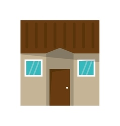 Isolated house with windows design vector
