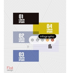 Geometric infographic stripes modern flat design vector