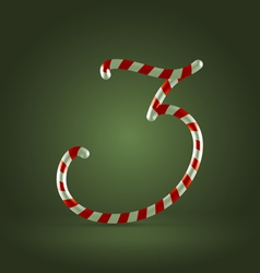 Candy cane abc 3 vector
