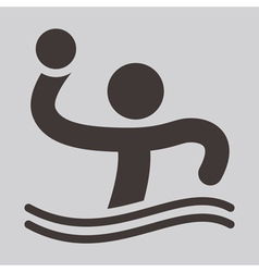 Water polo icon vector