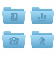 07 light blue folders internet vector image